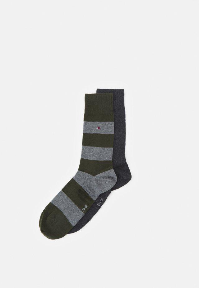 MEN RUGBY SOCK 2 PACK - Ponožky - olive