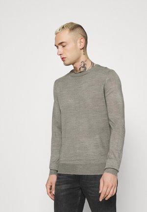 PARSECL - Stickad tröja - silver grey marl