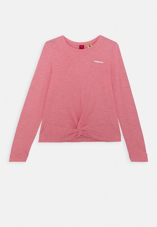 Top sdlouhým rukávem - light pink