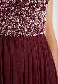Lace & Beads Tall - PICASSO - Společenské šaty - burgundy - 6