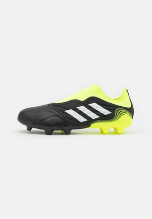 COPA SENSE.3 LL FG - Moulded stud football boots - core black/footwear white/solar yellow