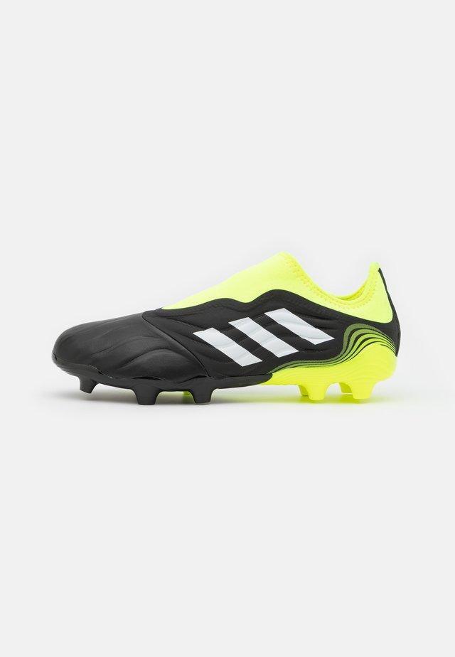 COPA SENSE.3 LL FG - Botas de fútbol con tacos - core black/footwear white/solar yellow