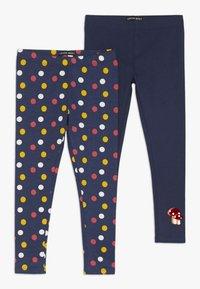 Lemon Beret - SMALL GIRLS 2 PACK - Leggings - Trousers - medieval blue - 0