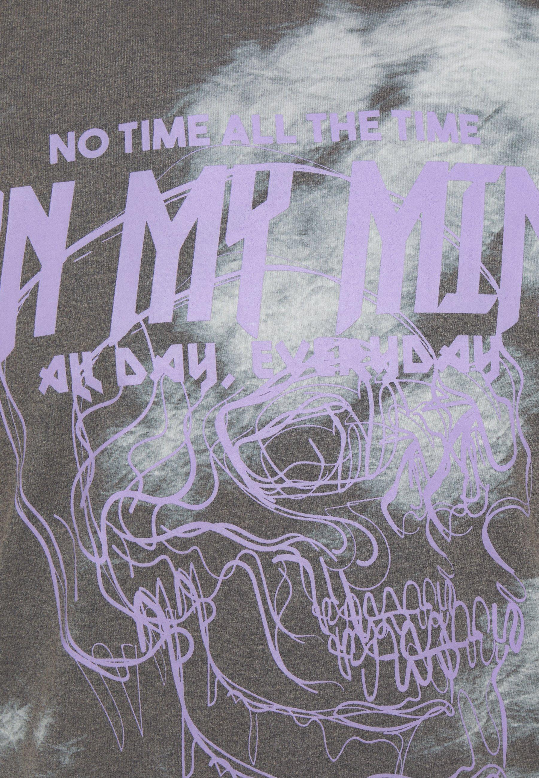 Jack & Jones JORTIME TEE CREW NECK - Print T-shirt - tap shoe/purple dgyW6