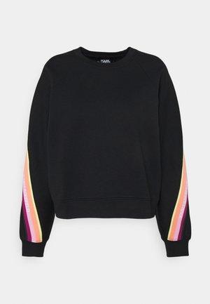 DOUBLE JERSEY TAPE SWEATSHIRT - Sweatshirt - black