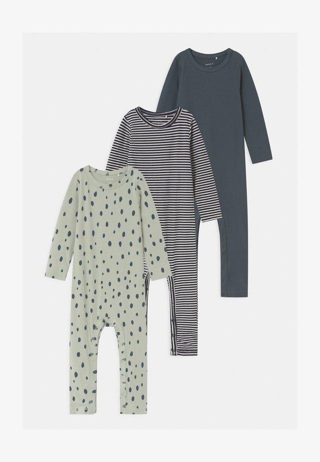 NBMRASKUS 3 PACK - Pyjamaser - whisper white/dark slate