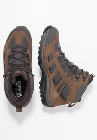 Jack Wolfskin - VOJO HIKE 2 TEXAPORE MID - Hiking shoes - dark wood - 1