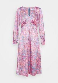 Closet - V NECK PUFF SLEEVE DRESS - Day dress - pink - 4