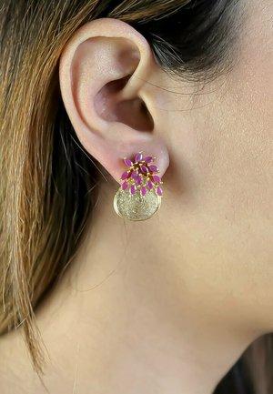 MULTI-COLOR STONE CRUISE SALAMANDER - Earrings - red