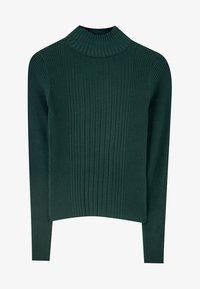 PULL&BEAR - MIT GERIPPTEM STEHKRAGEN - Sweter - dark green - 5