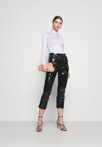 Missguided - HIGH NECK BODYSUIT - Long sleeved top - blue - 1
