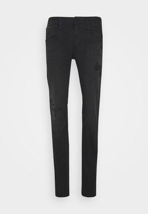 ANBASS HYPERFLEX - Slim fit jeans - black denim