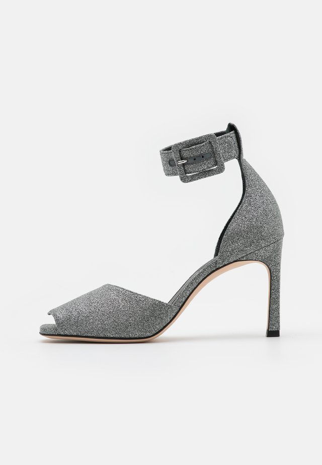 ELIDE - High heeled sandals - silver