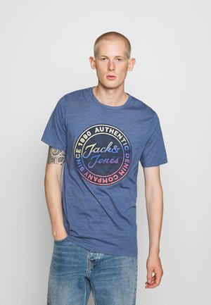 GRAND - T-shirt print - denim blue melange