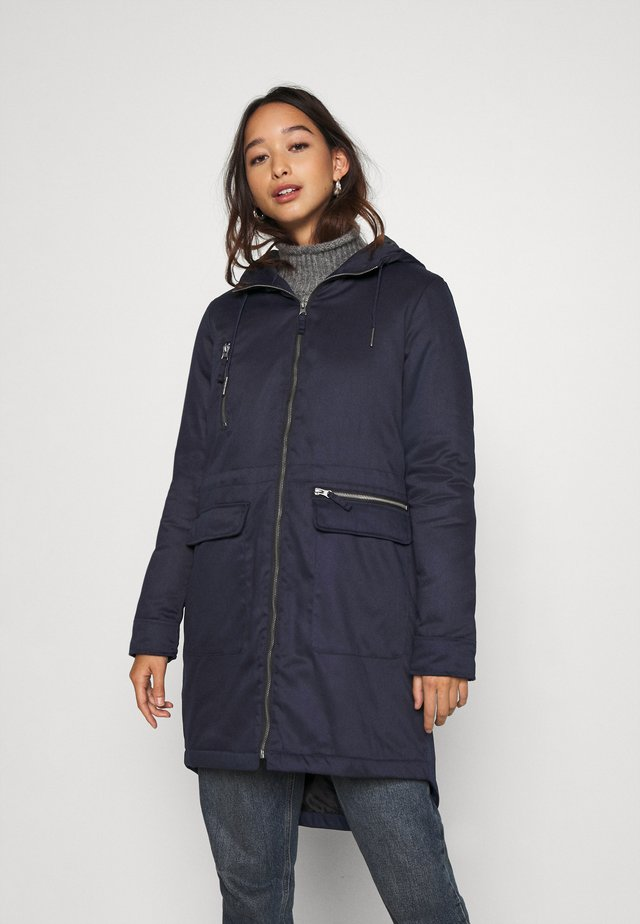 NMMISSI  LONG JACKET - Veste d'hiver - night sky/black lining