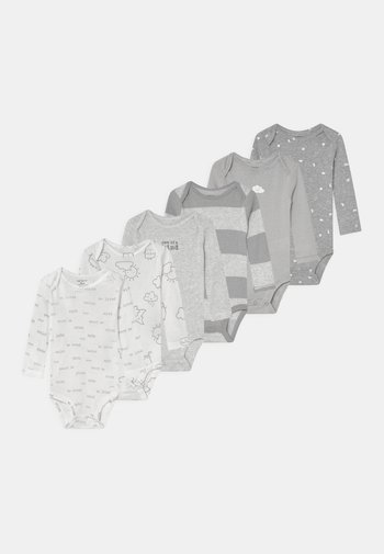 6 PACK UNISEX - Body - off-white/grey