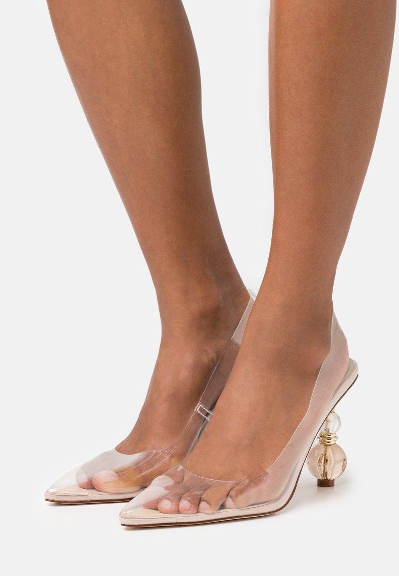 BEBO - SIRAH - Lodičky na vysokém podpatku - clear/nude
