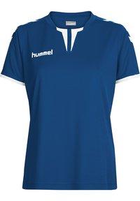 Hummel - CORE SS - Print T-shirt - true blue pr - 0