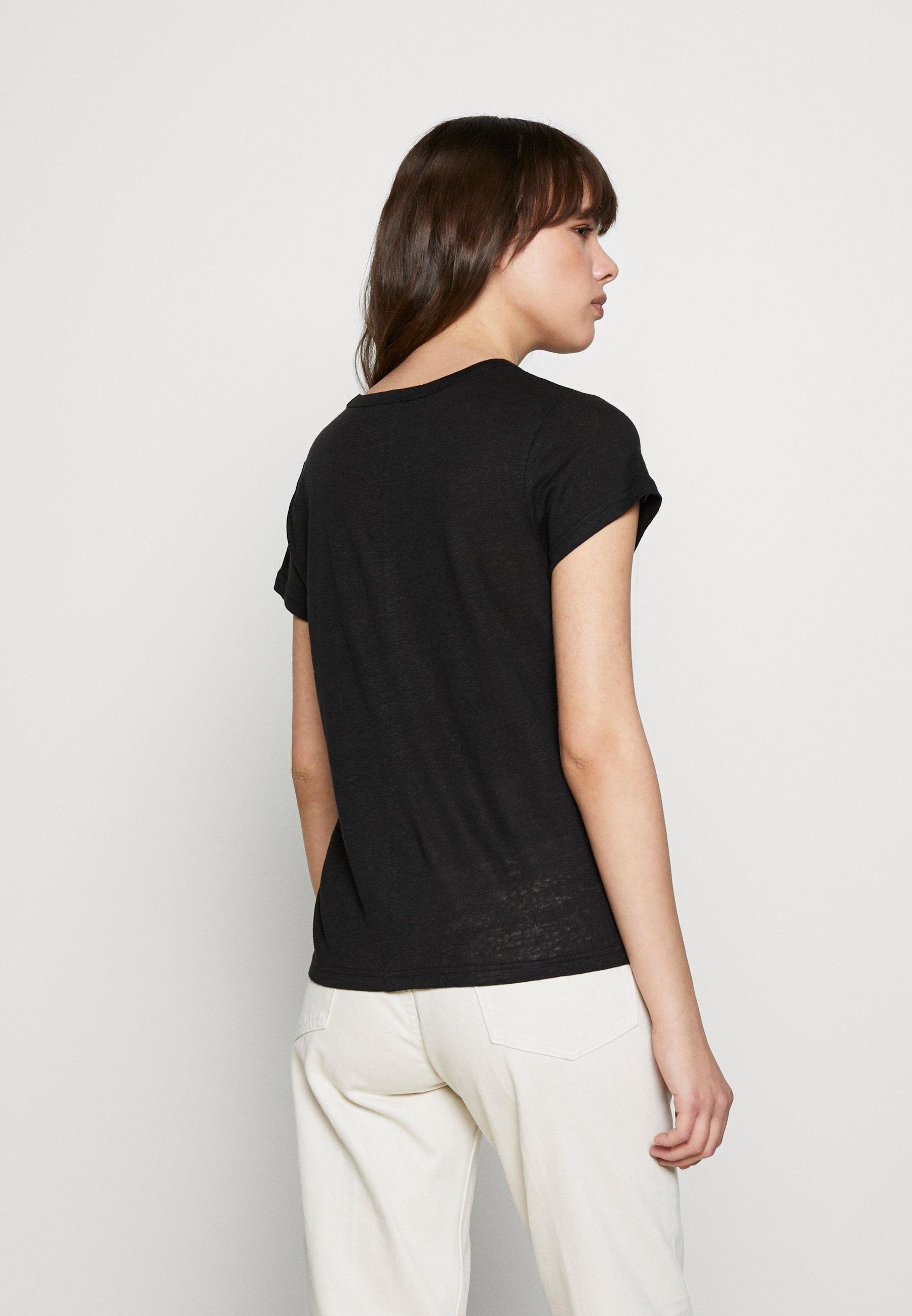 Banana Republic Vee Tee Solids - T-shirts Black/svart