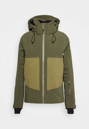 EPIC - Winter jacket - olive night/martini olive/white