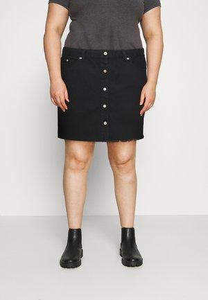 LADIES - Denimová sukně - black