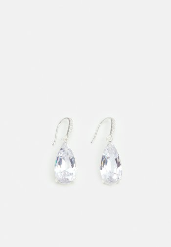CAMILLE LONG PENDANT - Earrings - silver-coloured
