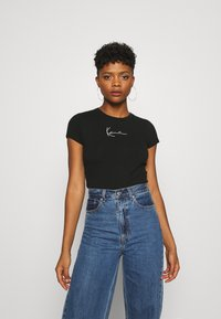 Karl Kani - SMALL SIGNATURE SHORT TEE  - Print T-shirt - black - 0