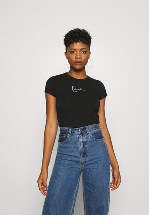 SMALL SIGNATURE SHORT TEE  - T-shirt con stampa - black