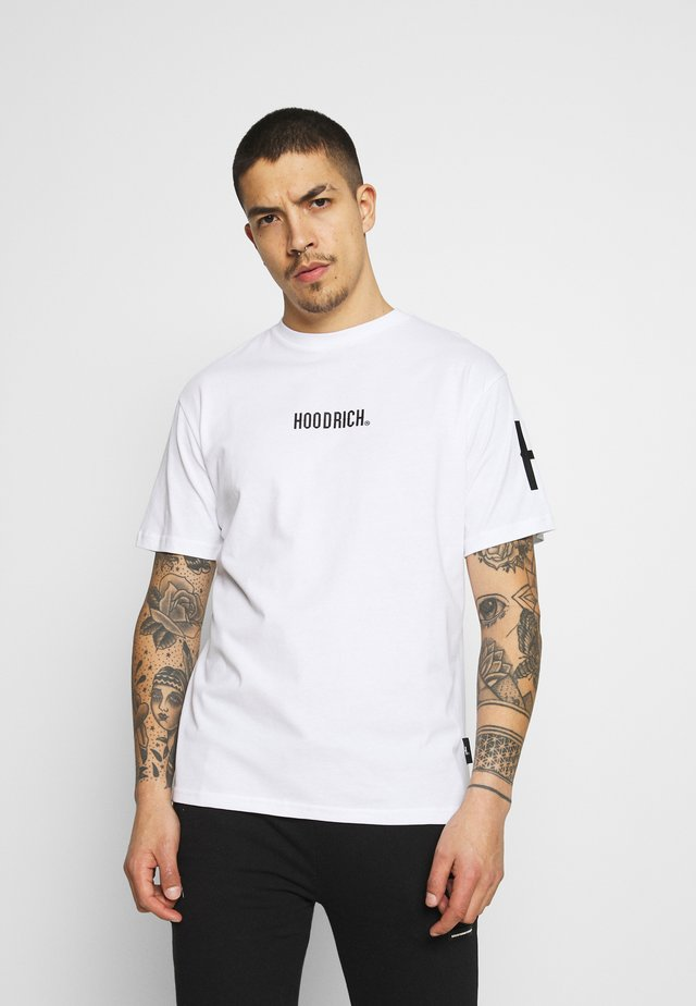 FLEX  - T-shirts med print - white/black