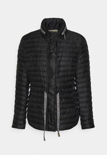 ECO LOGO TAPE - Gewatteerde jas - black