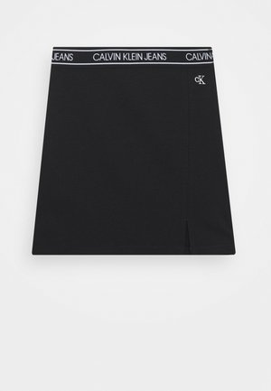 ELASTIC LOGO WAISTBAND SKIRT - Mini skirts  - black