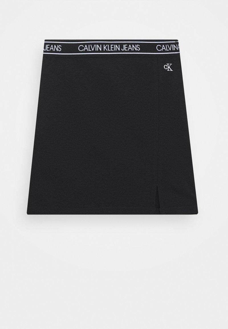 Calvin Klein Jeans - ELASTIC LOGO WAISTBAND SKIRT - Minisukně - black