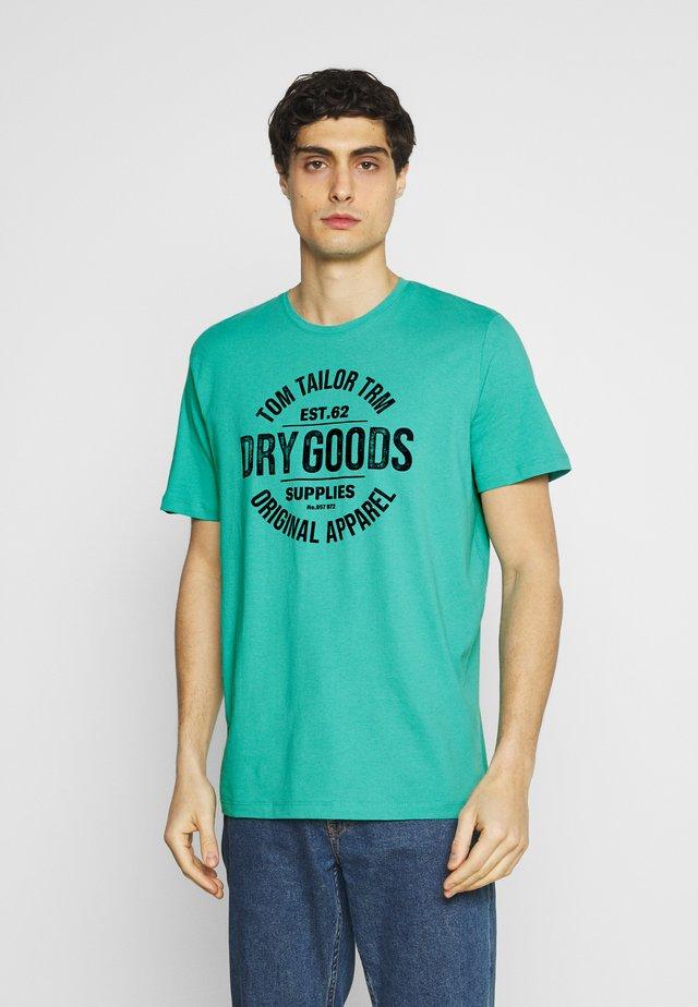 T-shirt con stampa - dusty aqua