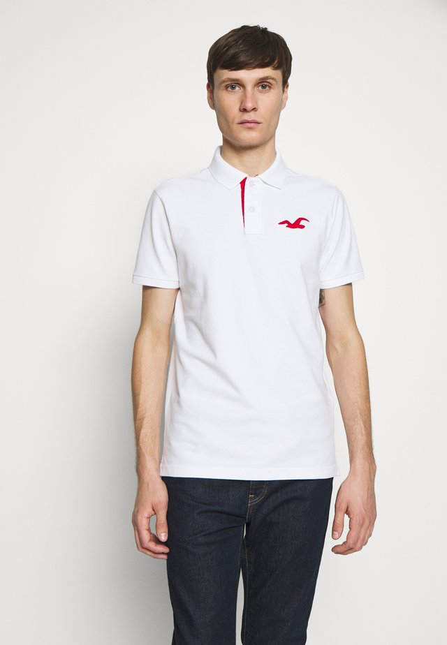 SLIM FIT EXPLODED ICON - Polo - white