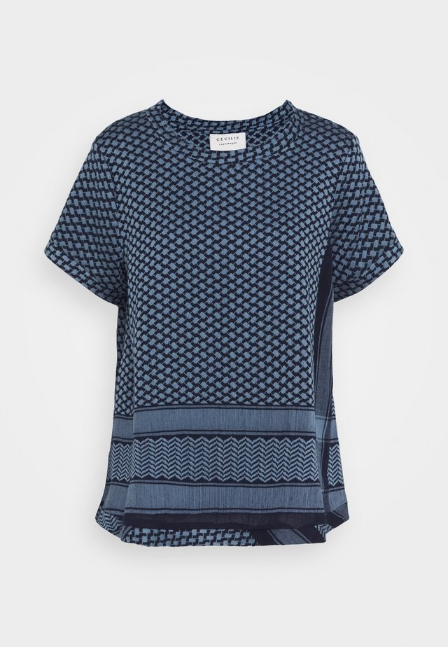 SHORT SLEEVES - Blouse - navy