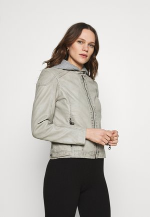 ABBY - Leather jacket - light grey