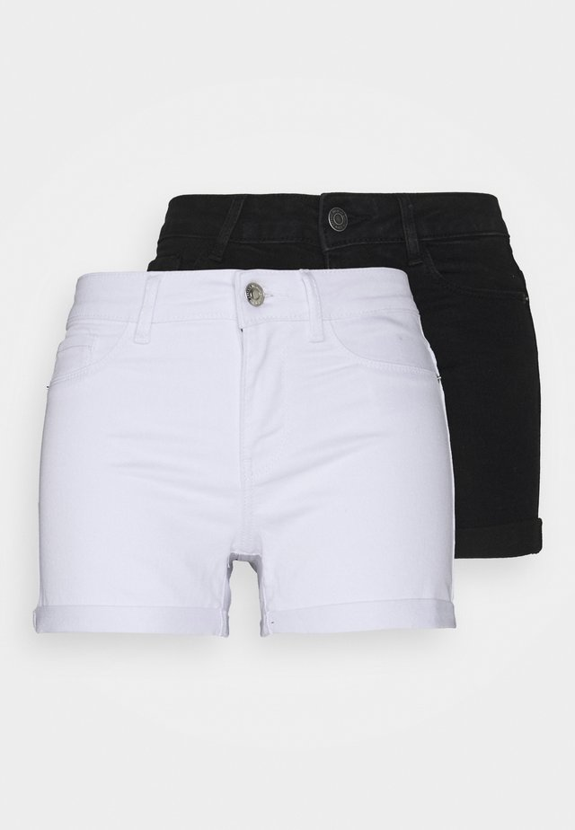 VMHOT SEVEN 2 PACK - Shorts di jeans - black/bright white