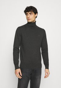 Tommy Hilfiger - ROLL NECK - Pullover - charcoal heather - 0