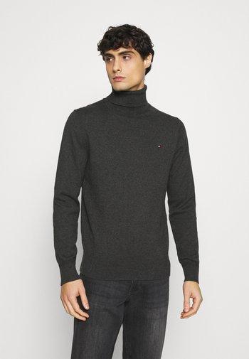 PIMA ROLL NECK - Stickad tröja - charcoal heather