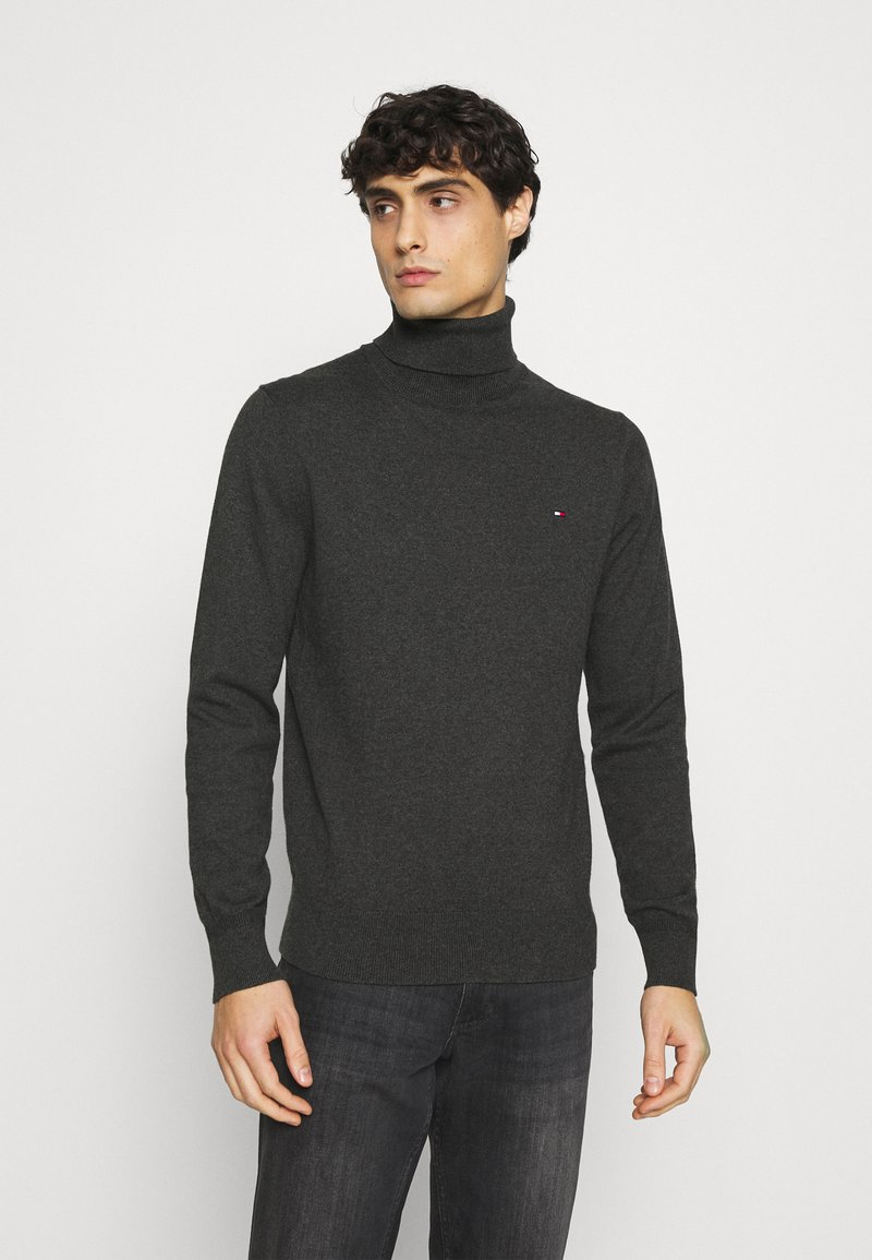 Tommy Hilfiger - ROLL NECK - Pullover - charcoal heather