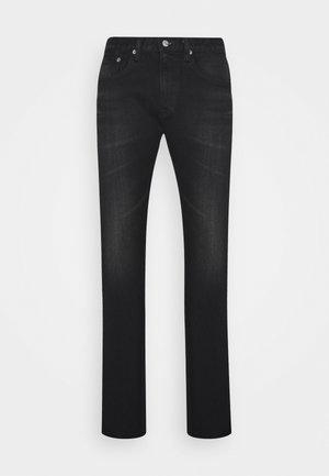 SLIM TAPERED - Slim fit jeans - dark black
