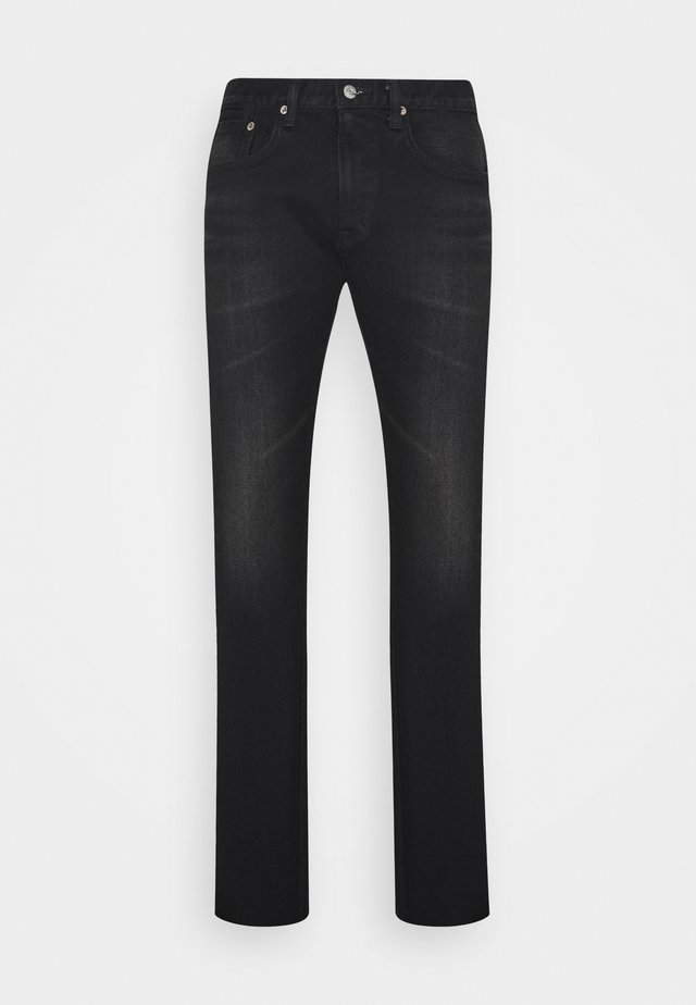 SLIM TAPERED - Vaqueros slim fit - dark black