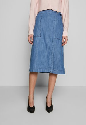 BLERINA - A-line skjørt - light blue denim