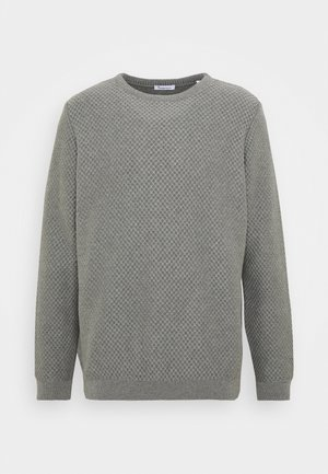 FIELD CREW NECK - Stickad tröja - mottled grey