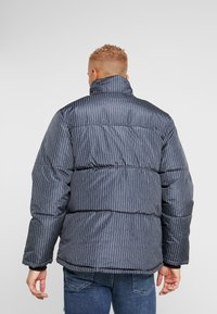 Topman - STRIPE PUFFER - Winter jacket - black - 2