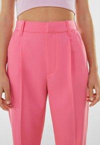 Bershka - Trousers - pink - 3