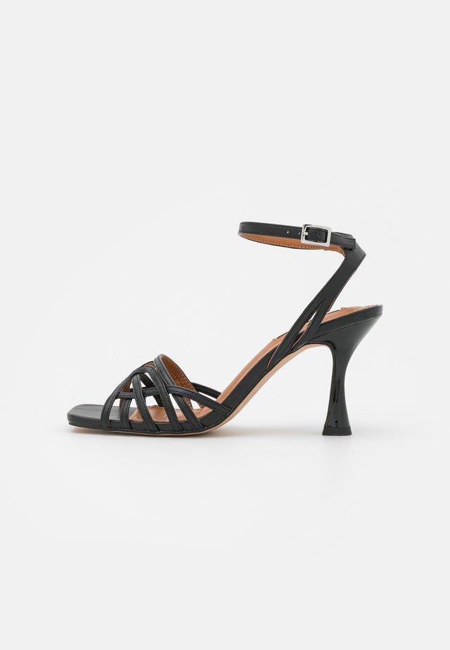 FRONT STRAP  - Sandals - black