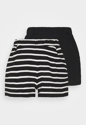 ONLMAY LIFE STRIPE 2 PACK  - Shorts - black/black