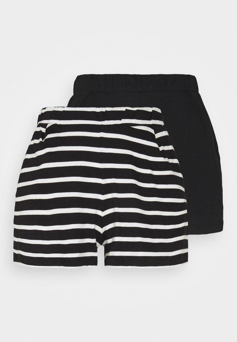 ONLY - ONLMAY LIFE STRIPE 2 PACK  - Shorts - black/black