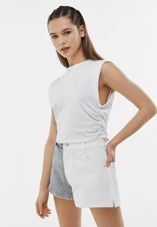 Damen MIT KONTRASTEN - Jeans Shorts